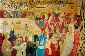 Typical Iranian Wedding, 2008 (left panel of diptych), © Rokny Haerizadeh, Courtesy Saatchi Gallery